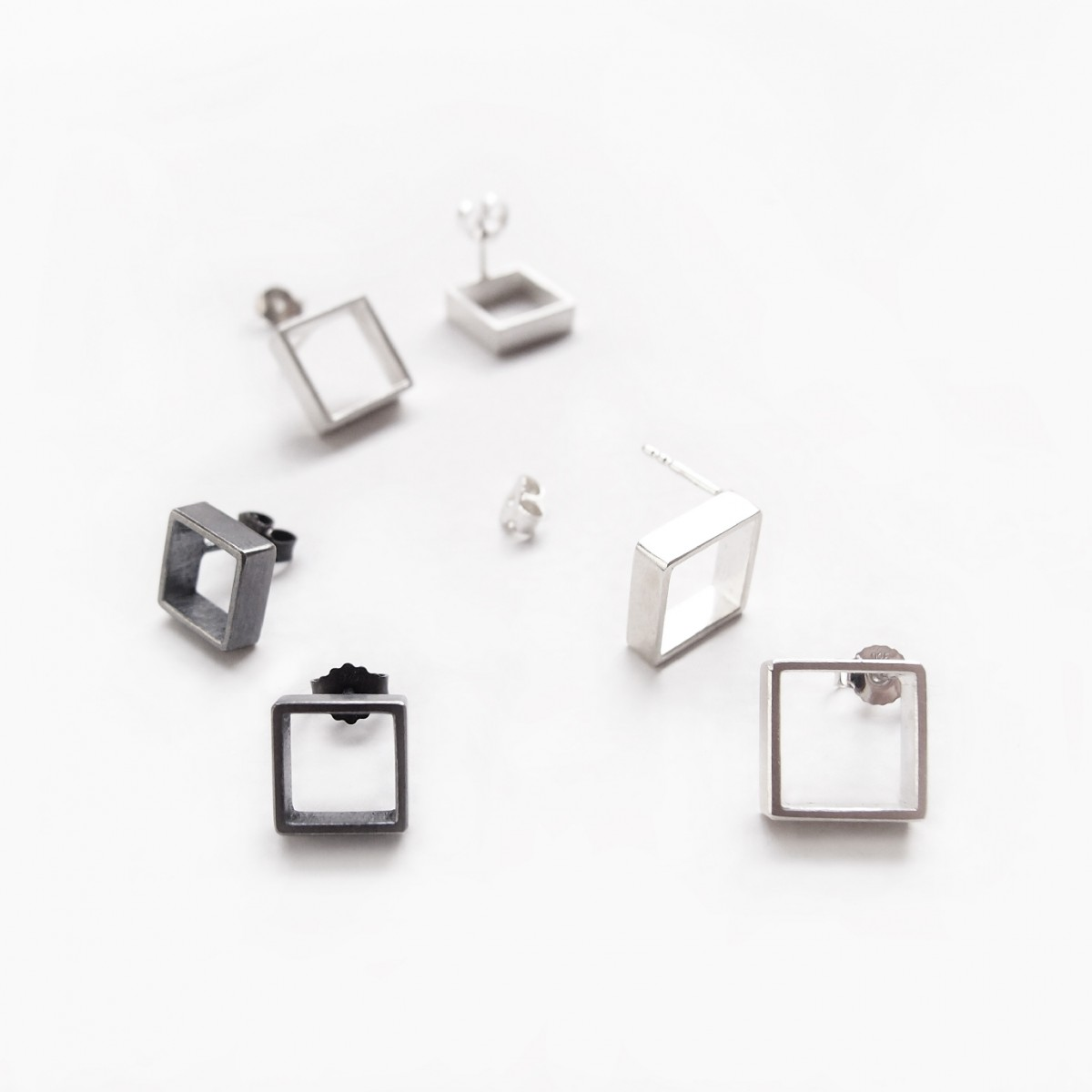 B KREB jewelry - LINE square Single - S