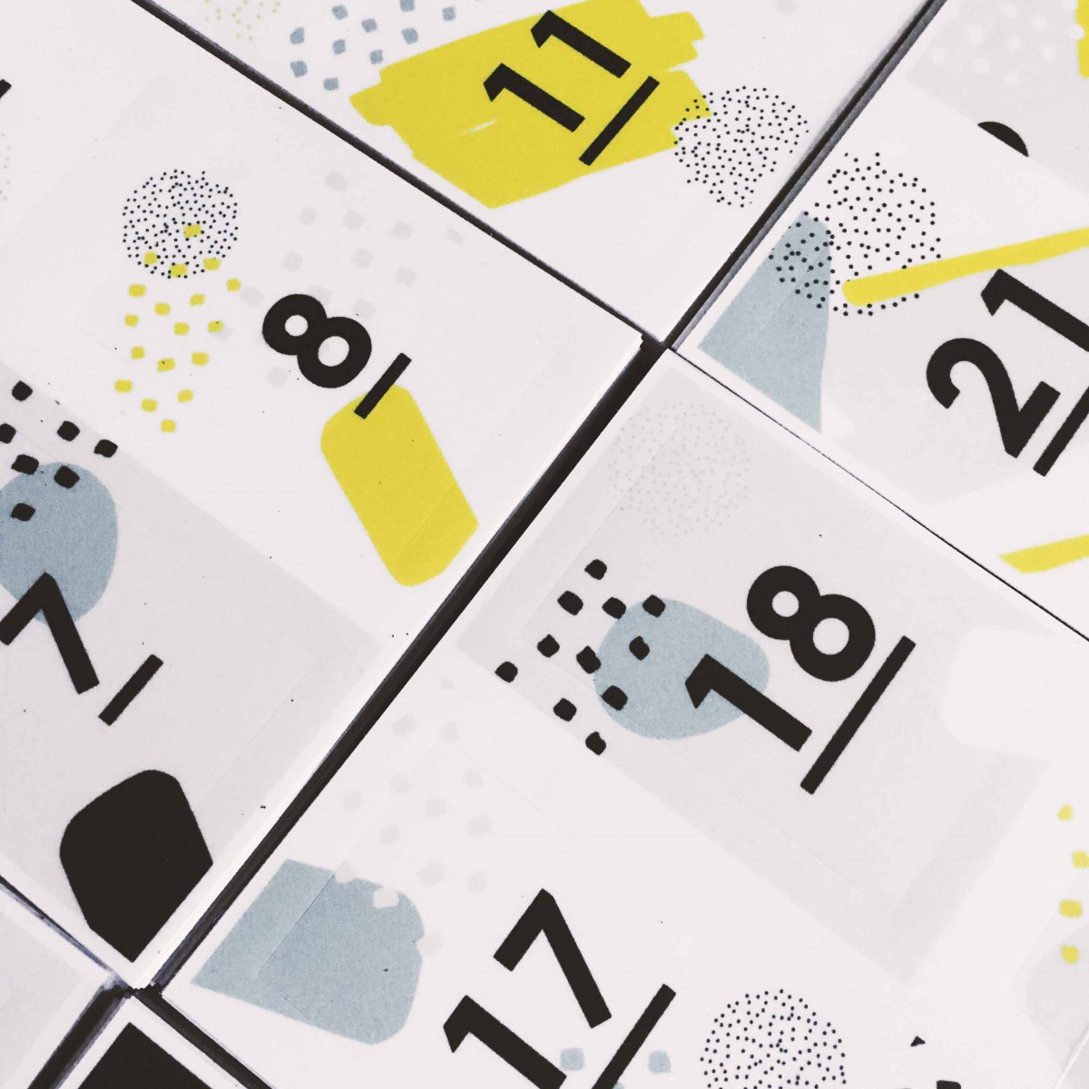 Love is the new black – ADVENTSKALENDER STICKER SET - COLOUR