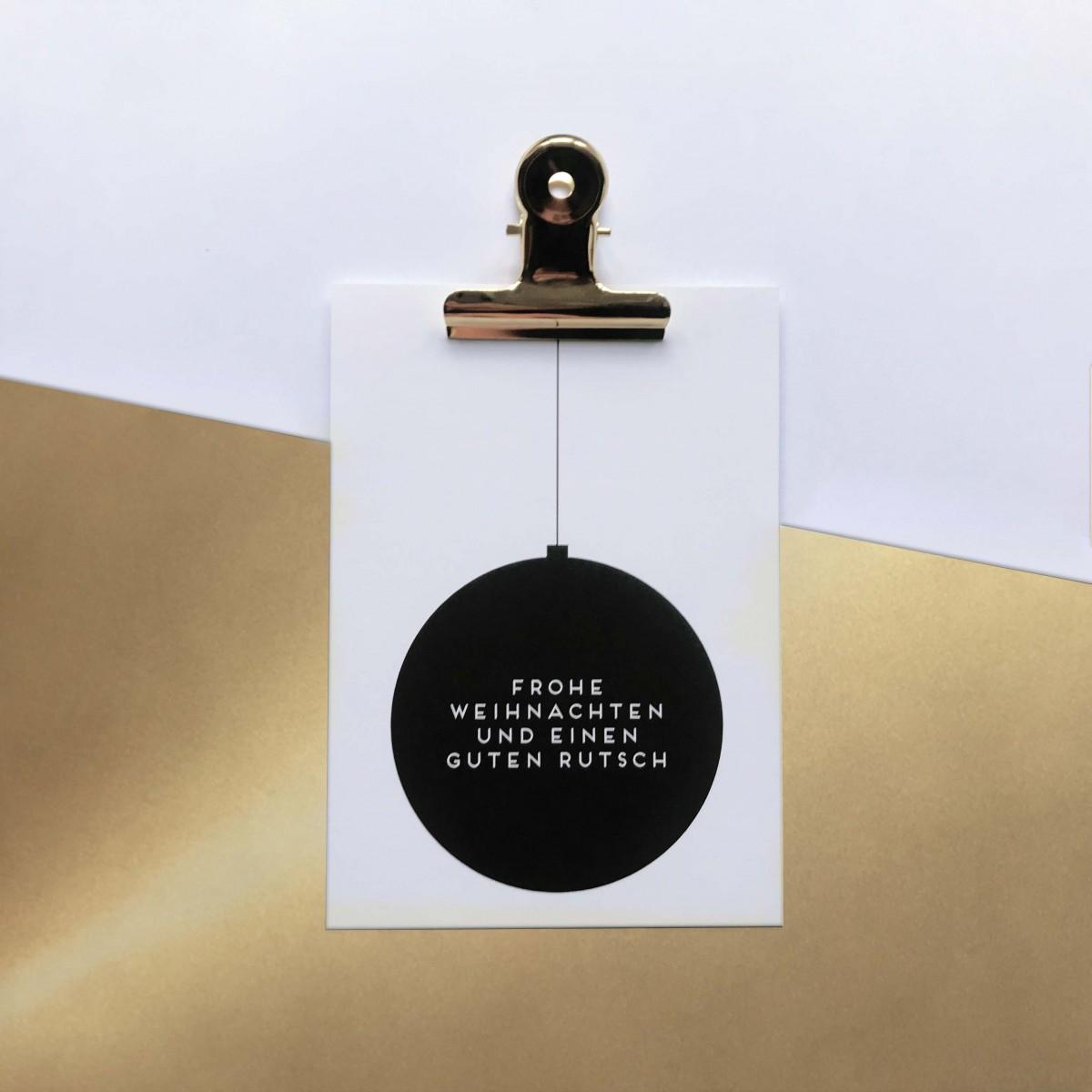 "Love is the new black – Postkarten Set ""Christmas"""