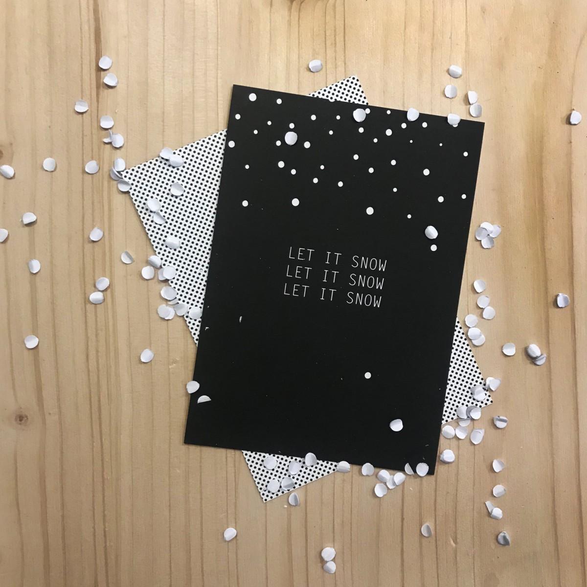 "Love is the new black – Postkarten-Set ""Christmas"""