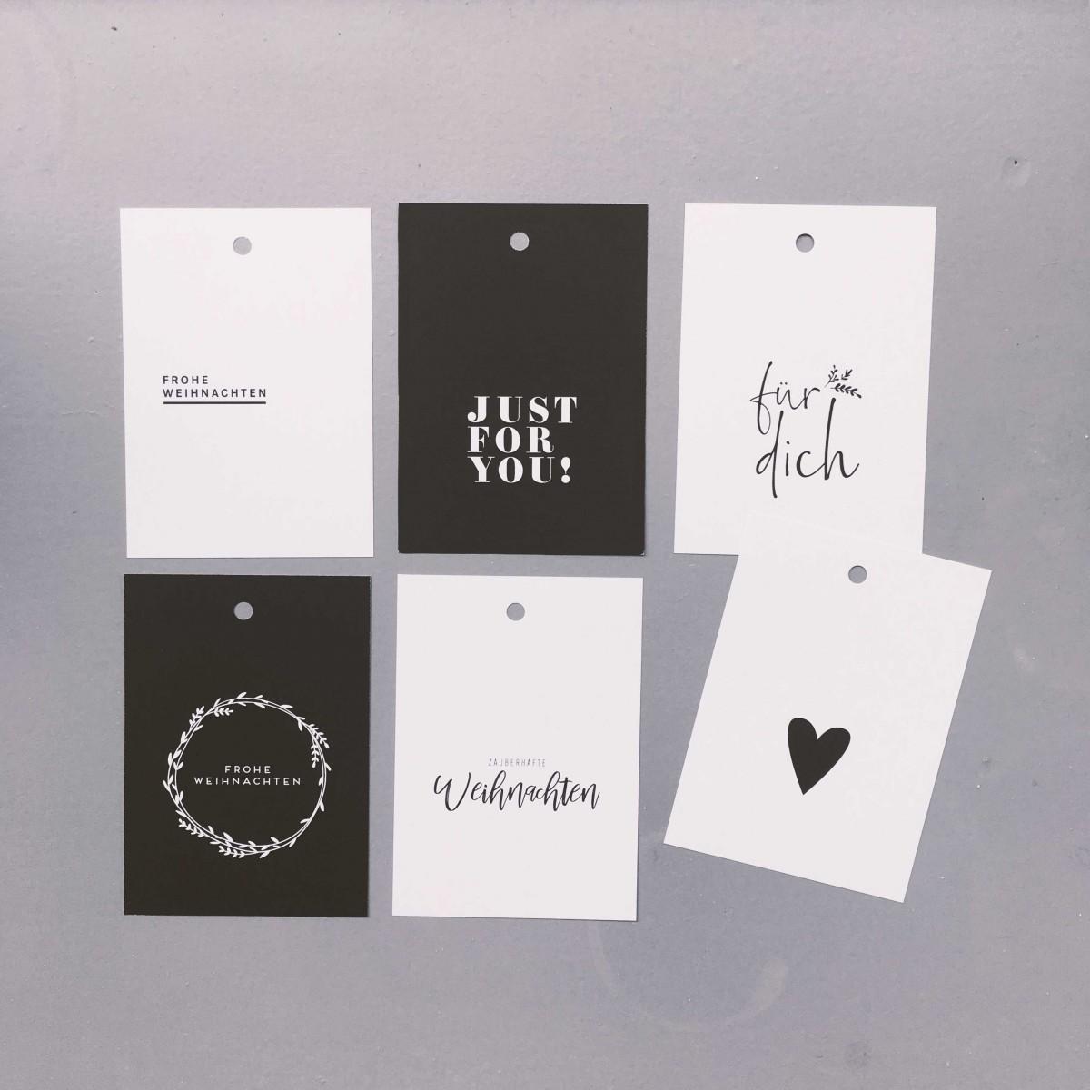 Love is the new black – Geschenkanhänger Weihnachten