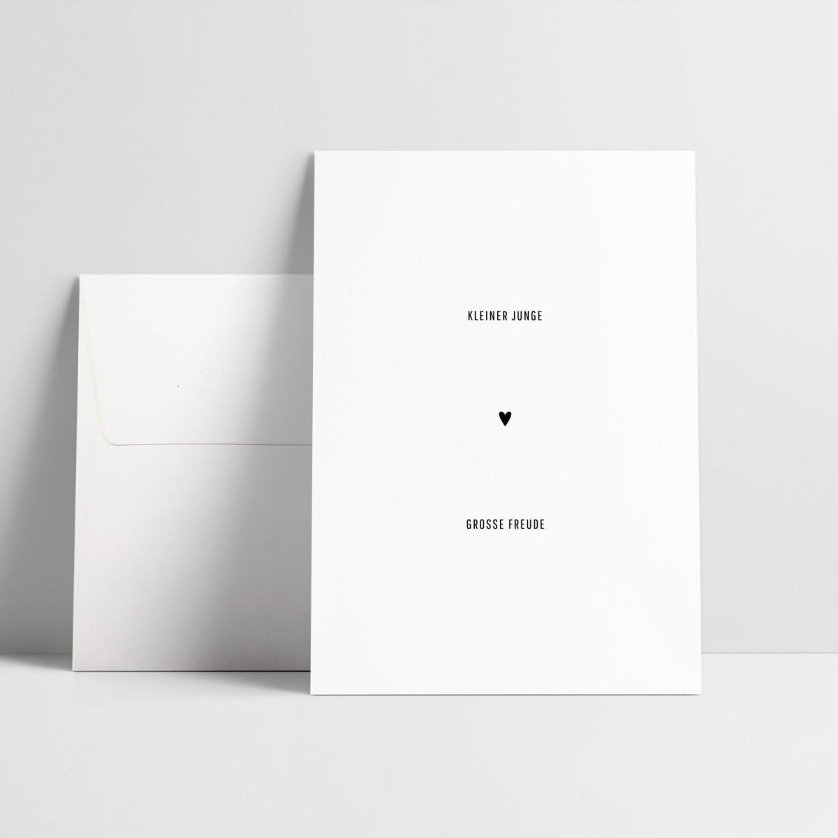 """Grußkarte """"Kleiner Junge, große Freude"""""""