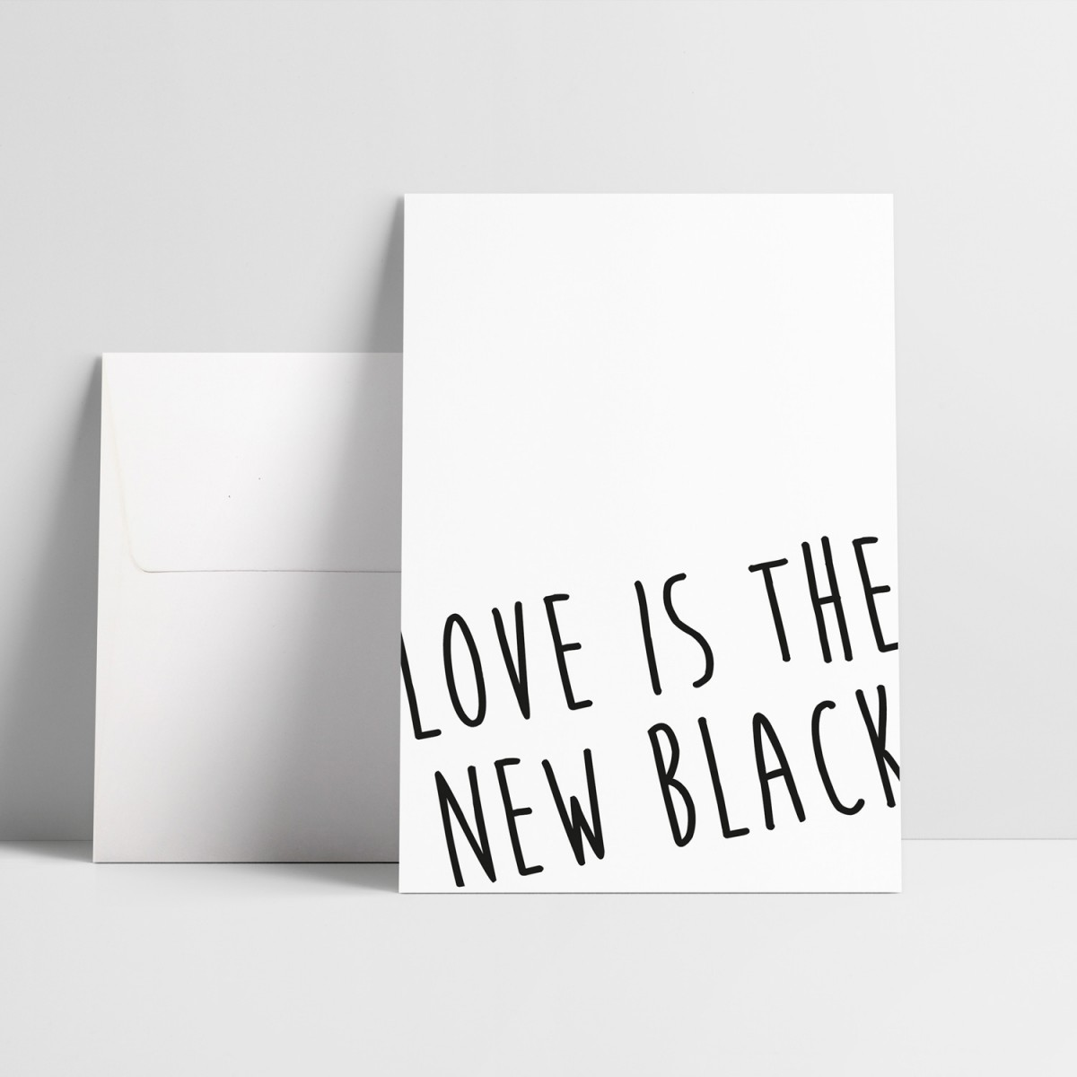 "Love is the new black – Grußkarte ""Scribble"""