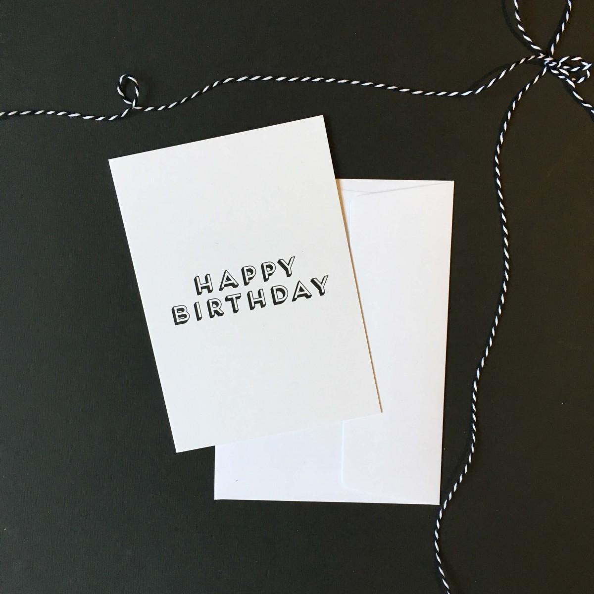 "Love is the new black – Grußkarte ""Happy Birthday"""