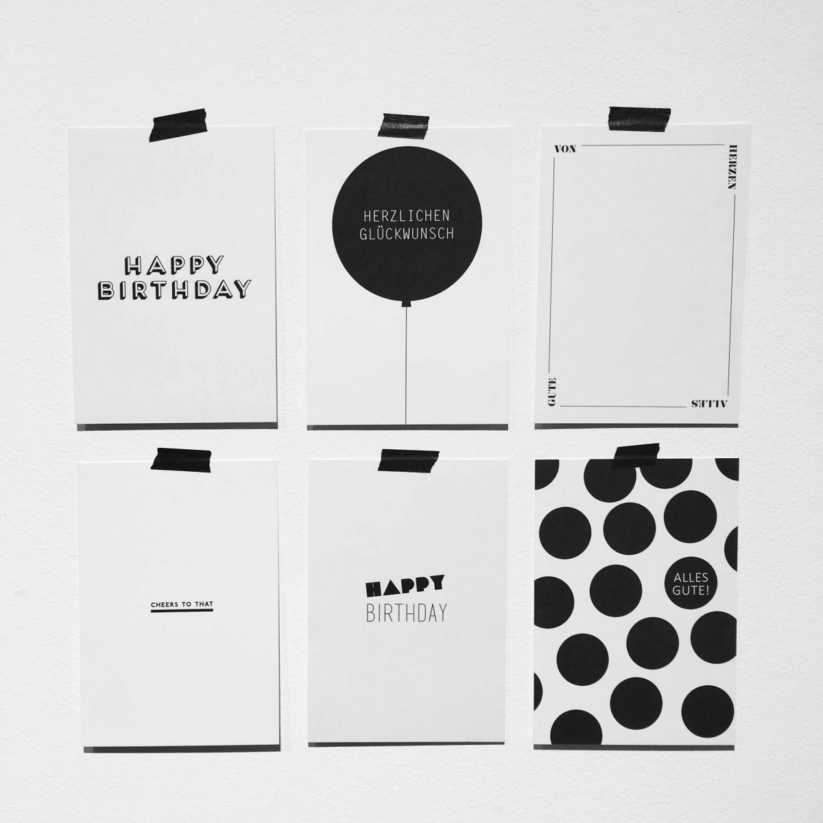 "Love is the new black – Postkarten-Set ""Cheers"""
