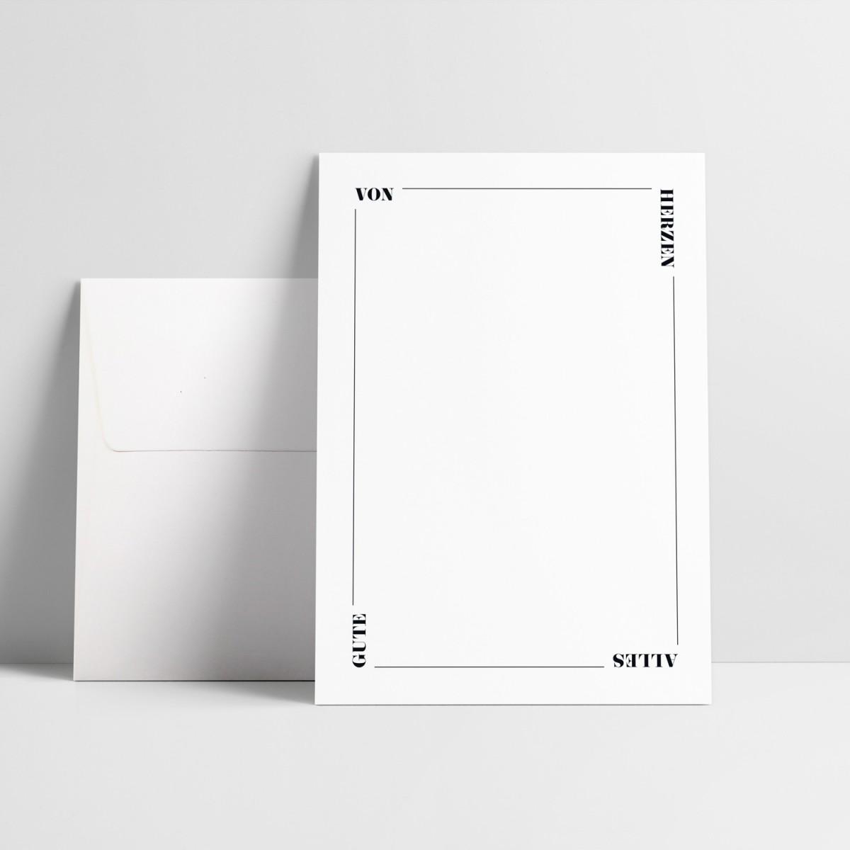"""Love is the new black – Grußkarte """"Von Herzen"""""""