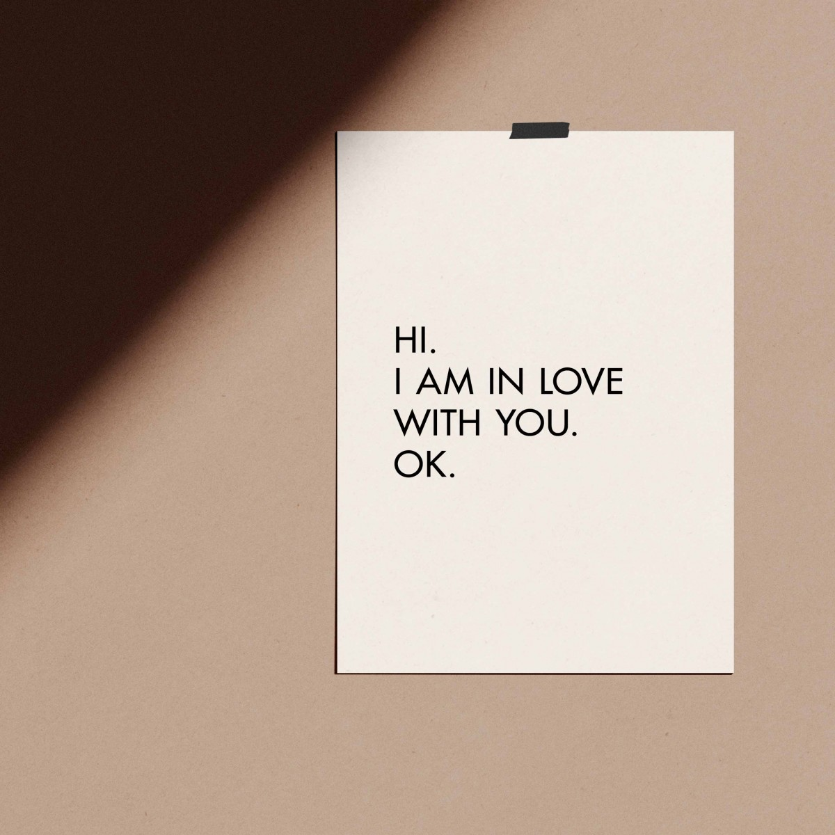 "Love is the new black — Poster ""IN LOVE WITH YOU"", Din A4 Format"