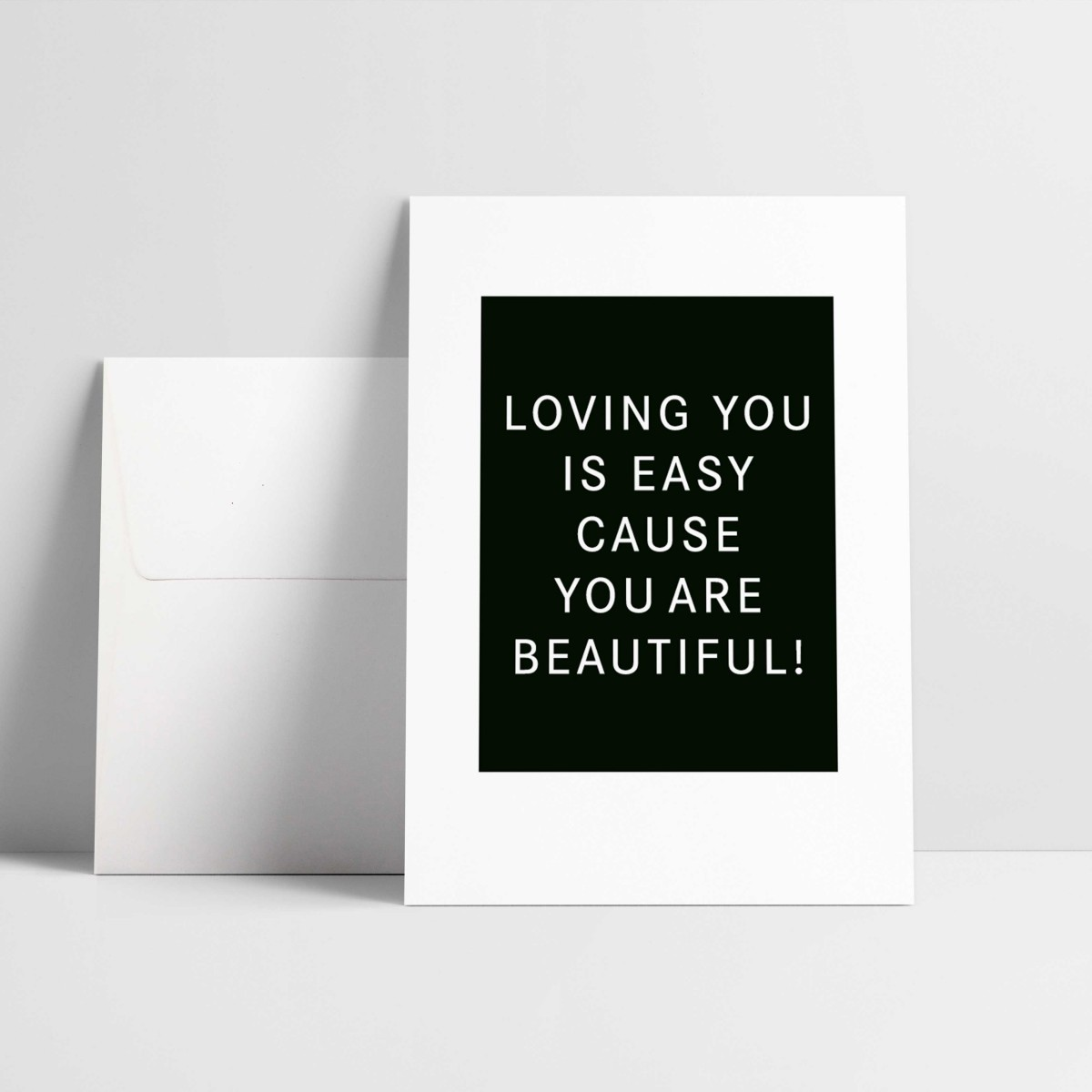 """Grußkarte """"Loving you is easy"""""""