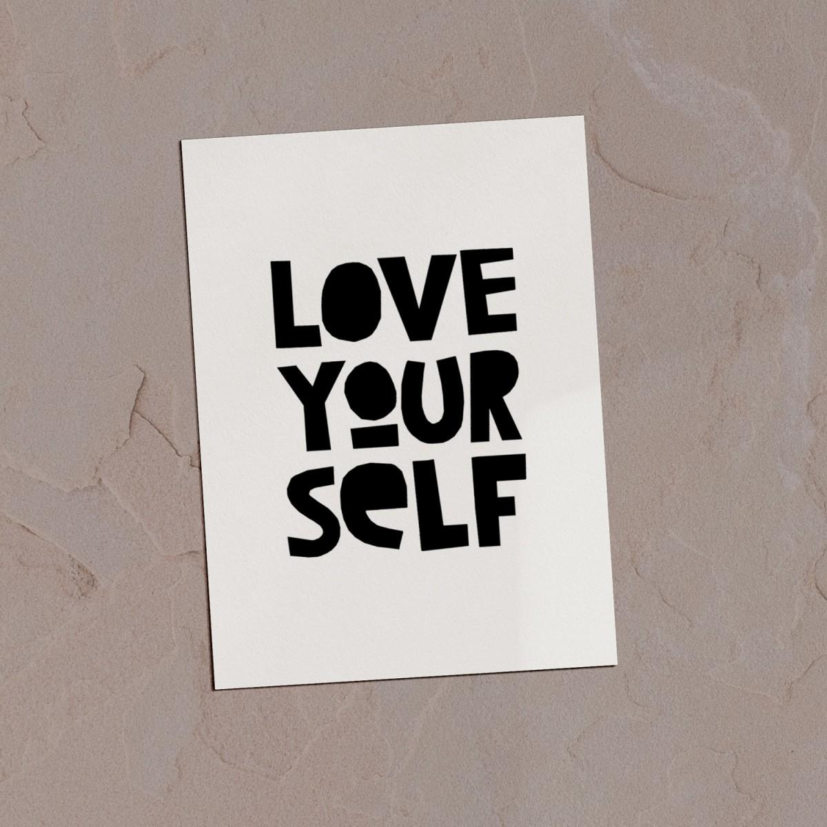 "Love is the new black – Postkarten Set ""Selflove """