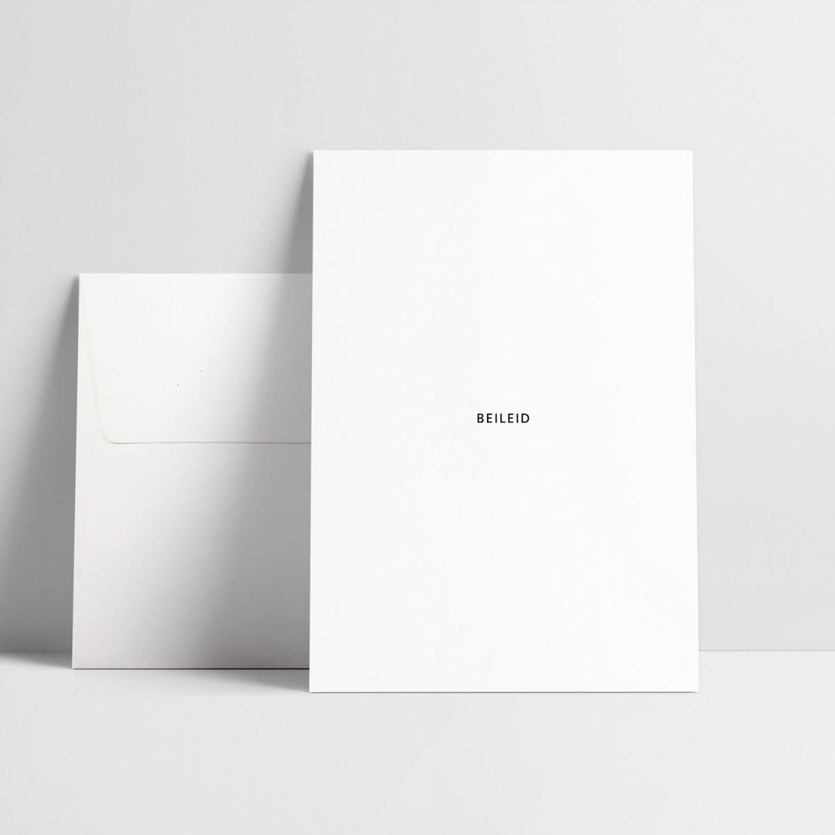 """Kondolenzkarte """"Beileid"""""""