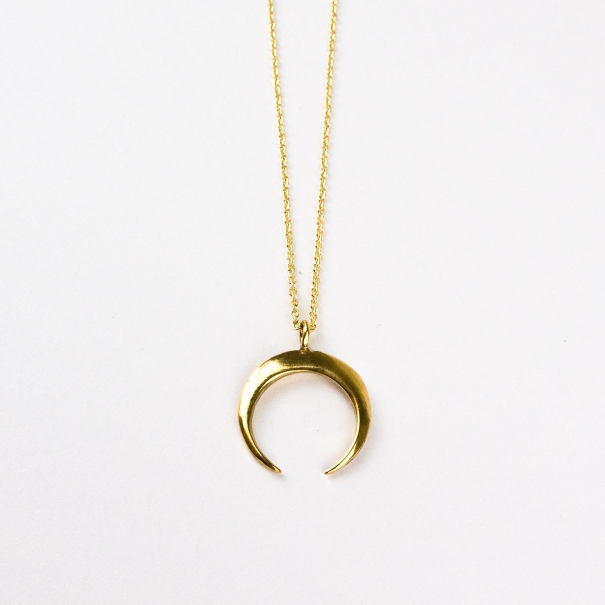 ST'ATOUR LUNA I – Kette mit Halbmond in Gold, Silber oder Roségold