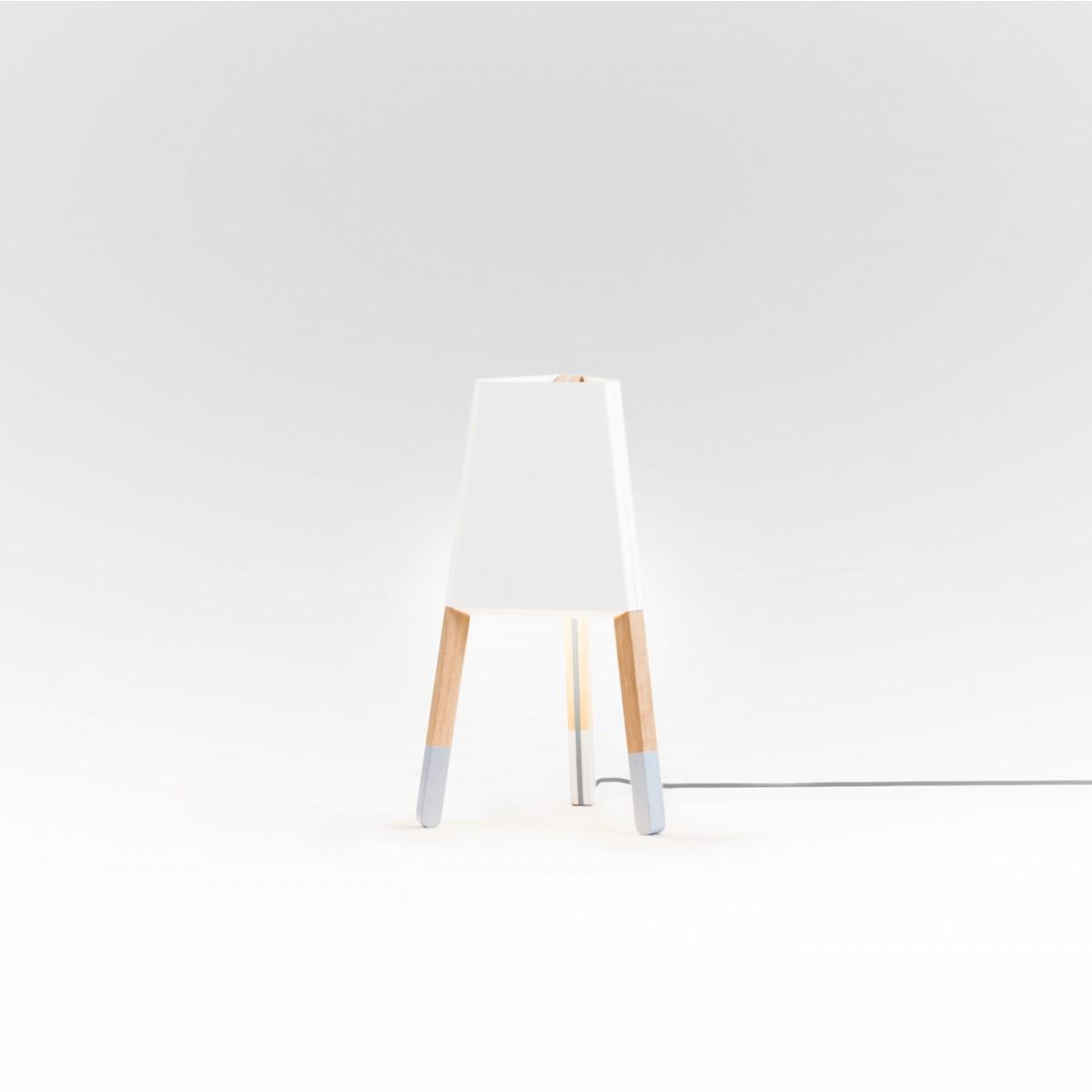 La3b Stehleuchte 50 cm weiß