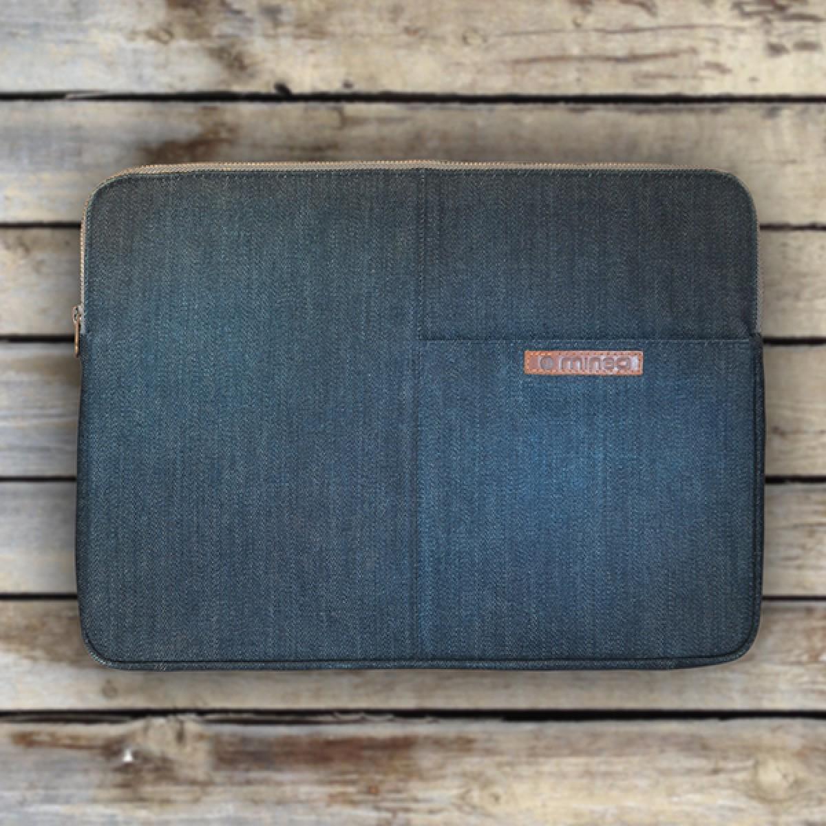 mineD FLUSH - Laptoptasche aus Jeans