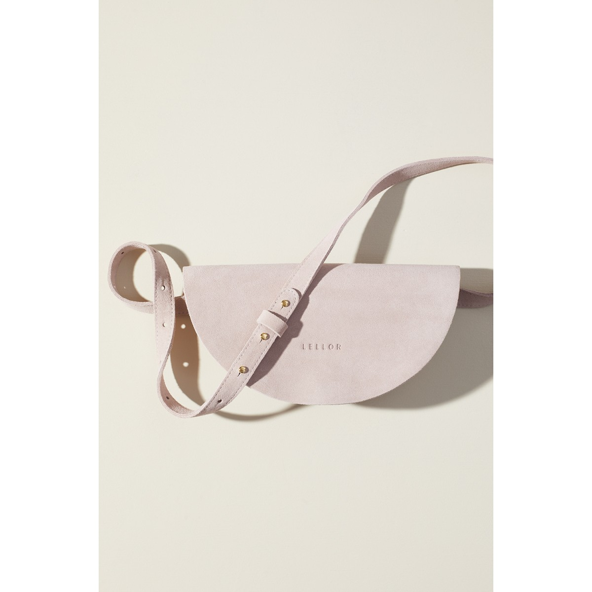 "LELLOR Halfmoon Bag ""Dusty Mauve"""