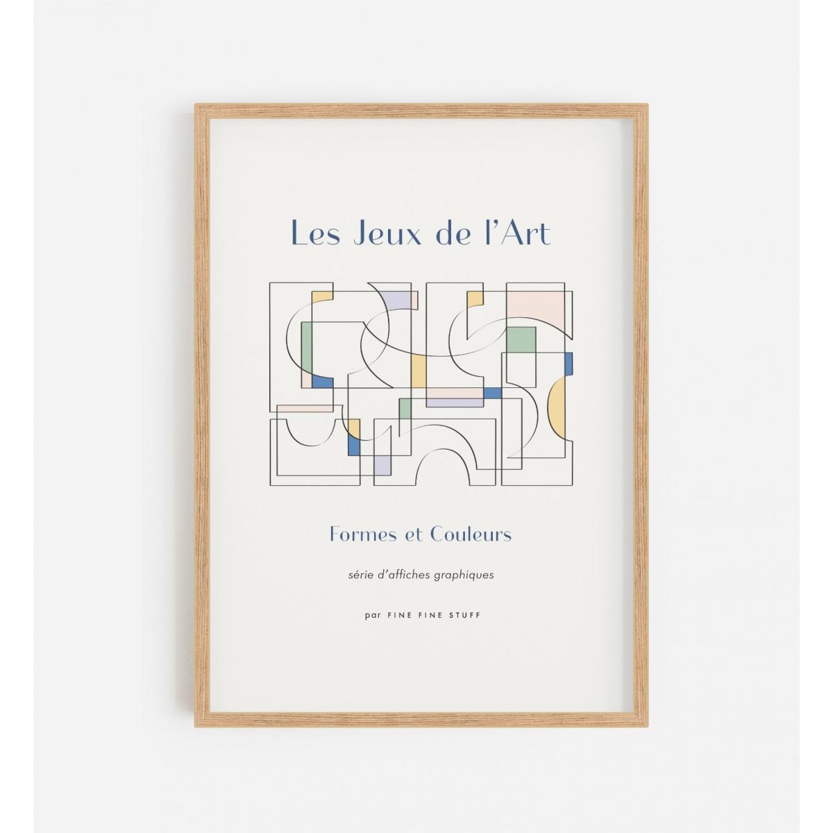 FINE FINE STUFF - Poster - Les Jeux de l'Arts - bleu - 50x70
