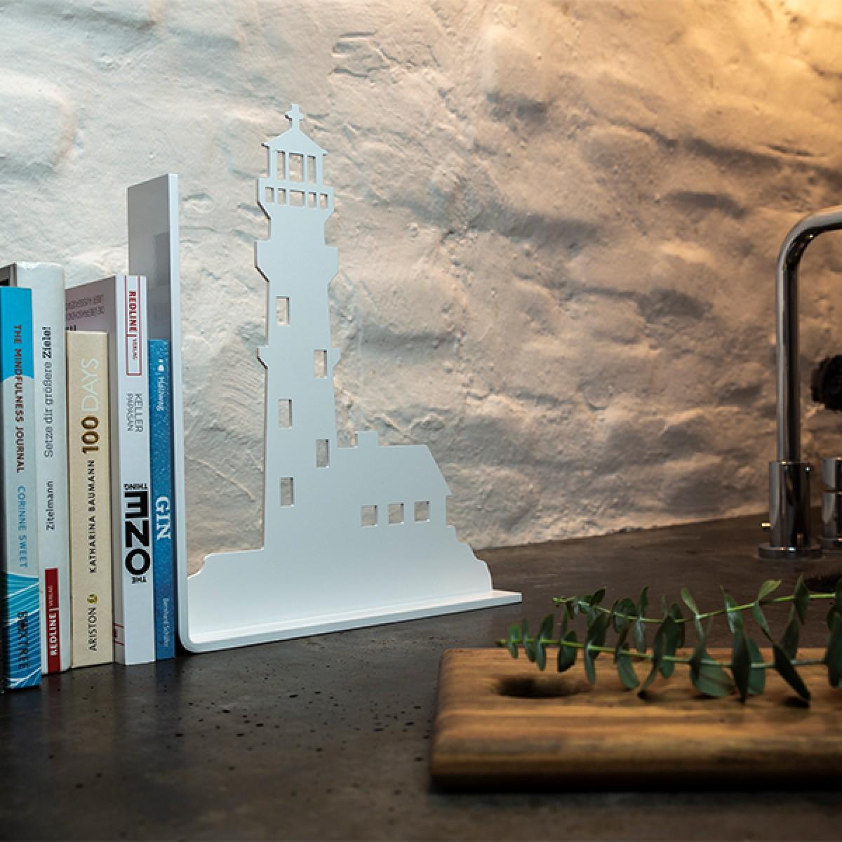 Dwenger Design Manufaktur - Buchstütze Leuchtturm