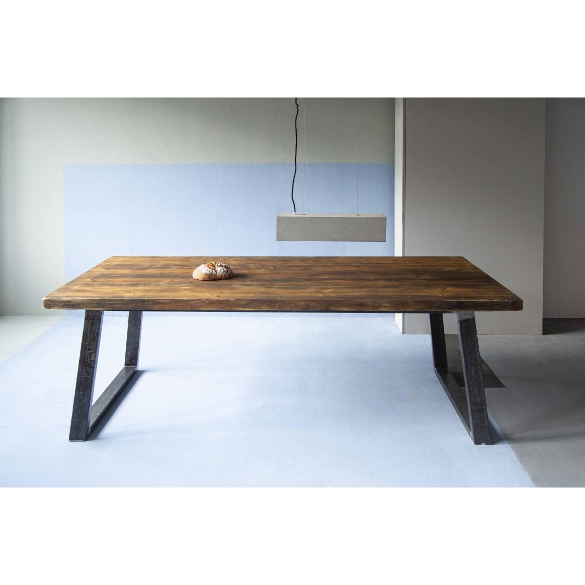 FraaiBerlin – Lidet/Loren Rohstahl 220 x 100 cm mit zwei Ansteckplatten á 50cm