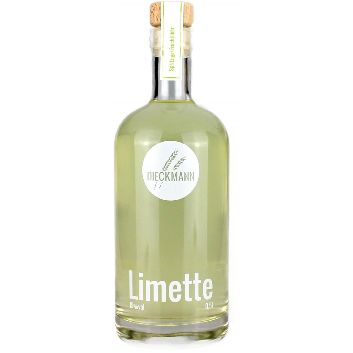 Weizenbrennerei & Likörmanufaktur Dieckmann Limette - Fruchtlikör LIKÖR 15%vol., 0,5l