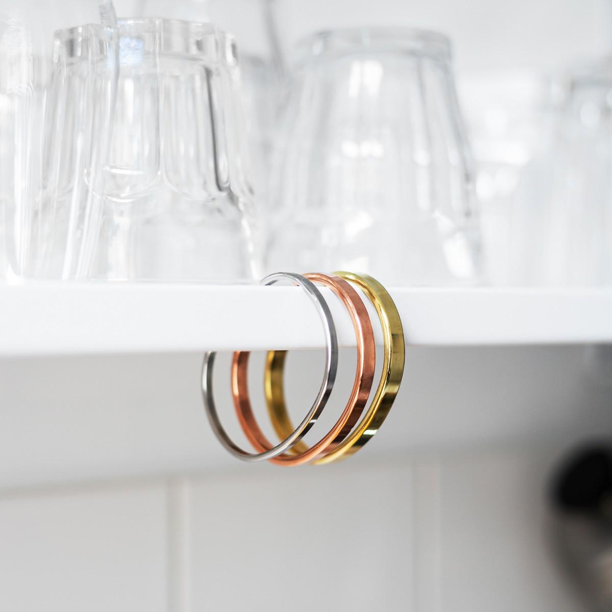 Lois Mathar – Armband Messing, mittel, 5 mm