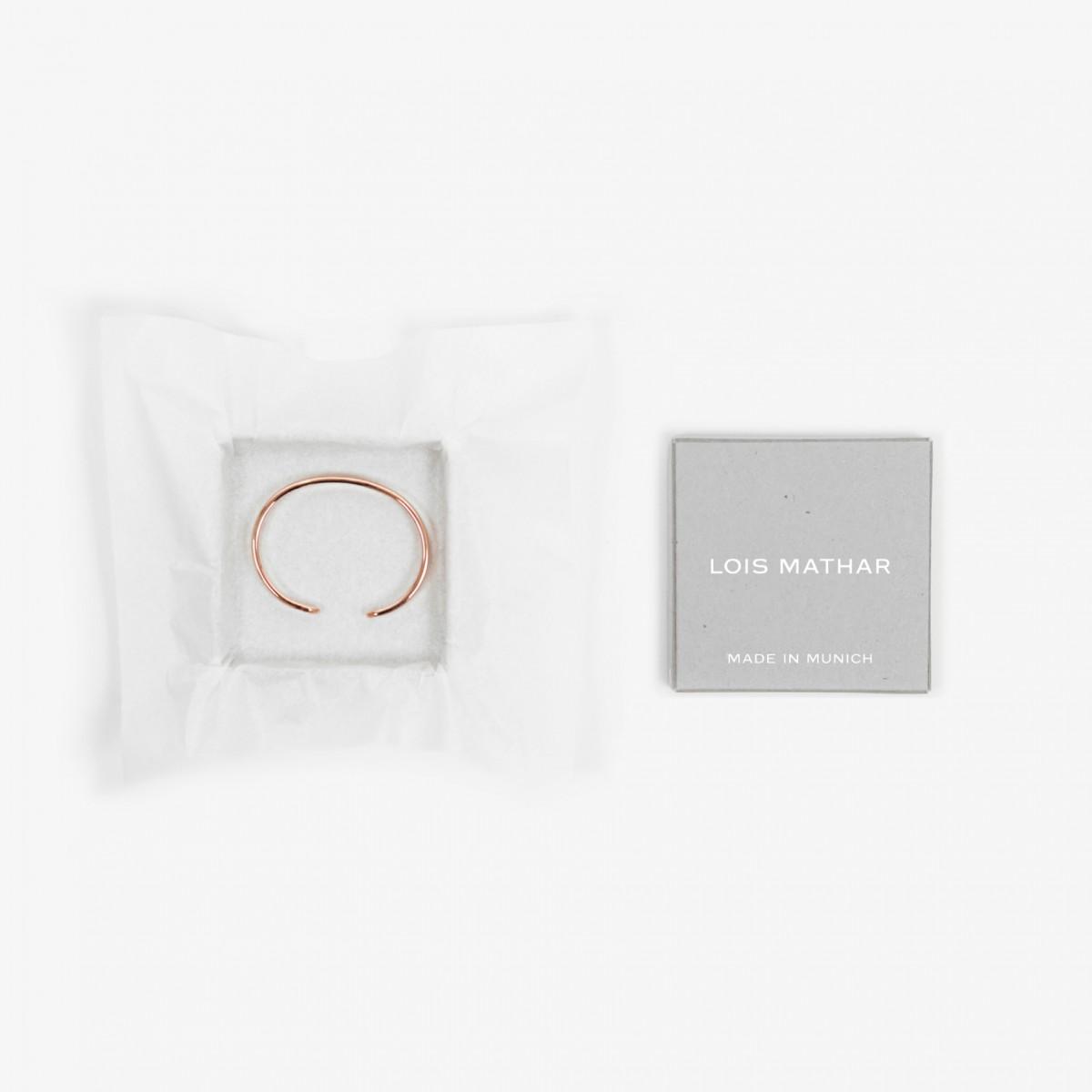 Lois Mathar, Armband Kupfer, mittel, 5 mm breit