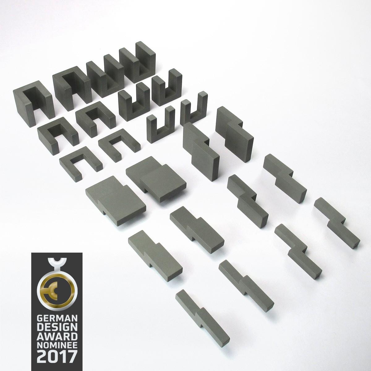 Design-Bauklötze ludobricks (betongrau)
