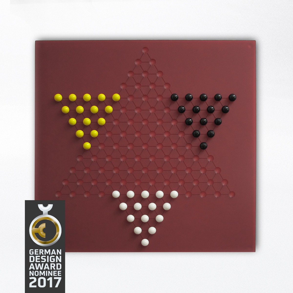 Ludofactum Design-Brettspiel ludohalma (cherry)
