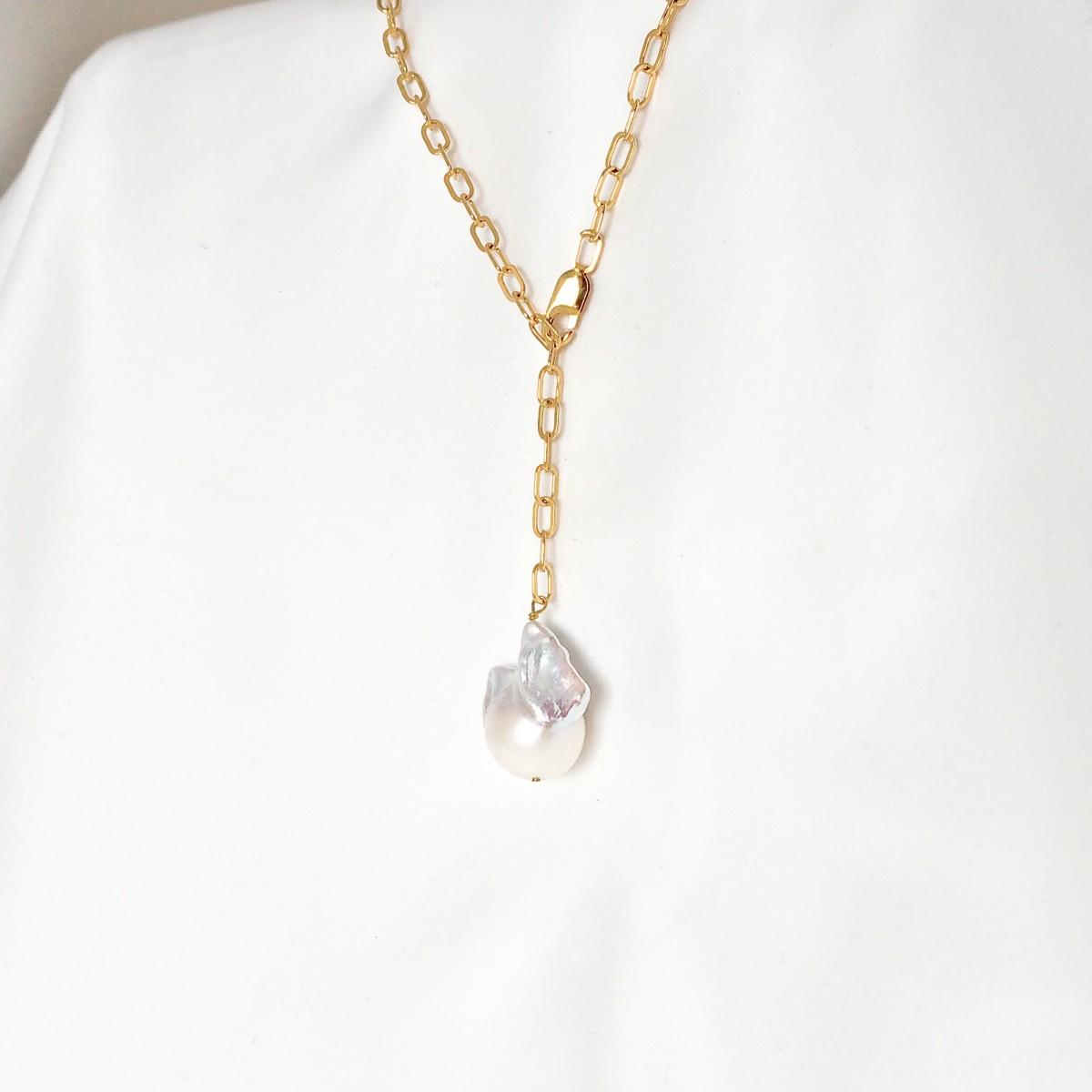 ST'ATOUR MADITA - Kette mit Perle in Gold, Silber oder Roségold