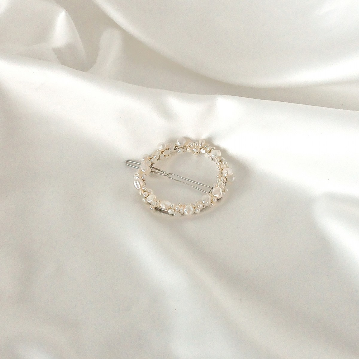 ST'ATOUR MAGNA FULL - Haarspange mit Perlen in Gold, Silber oder Roségold