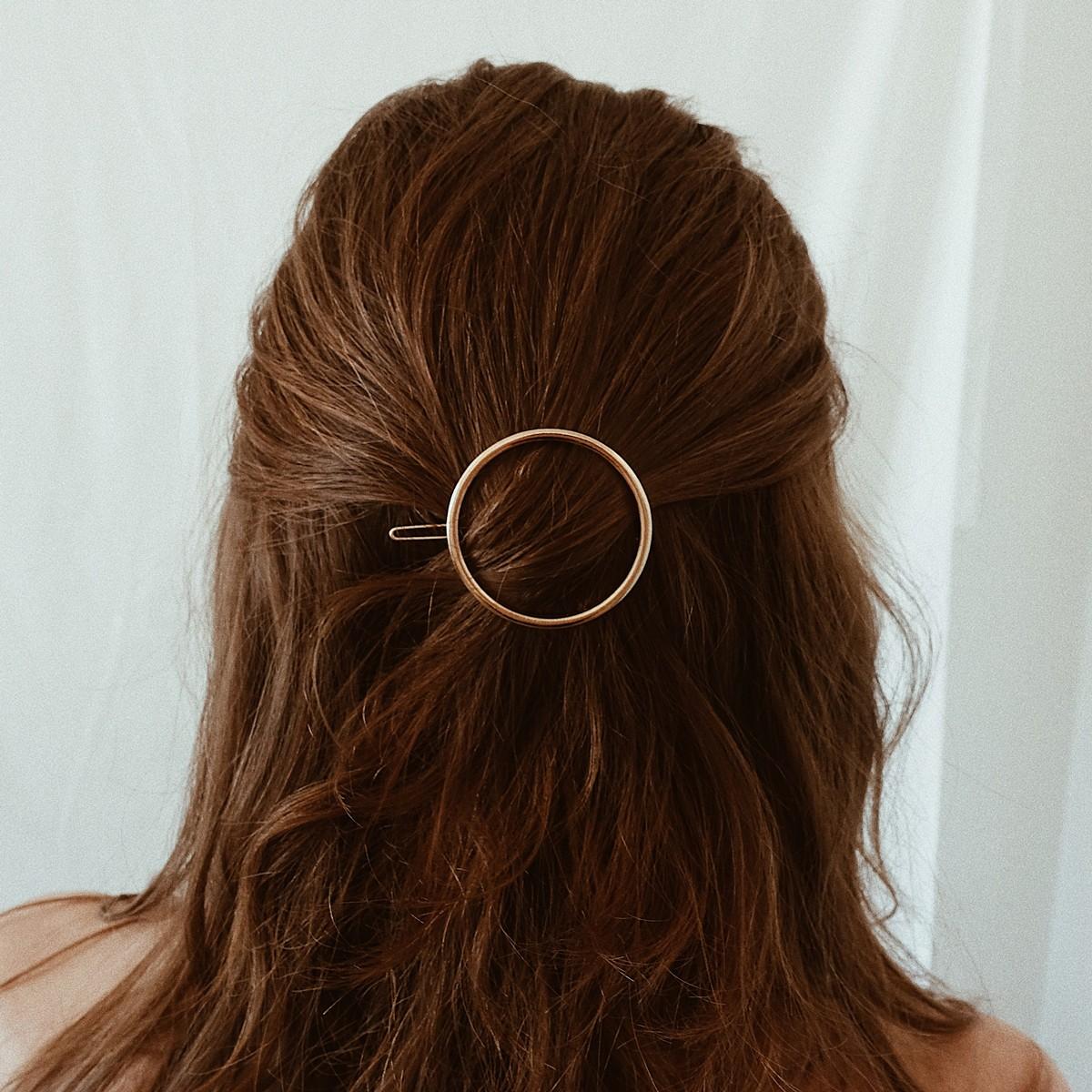 ST'ATOUR MAGNA NAKED – runde Haarspange in Gold, Silber oder Roségold