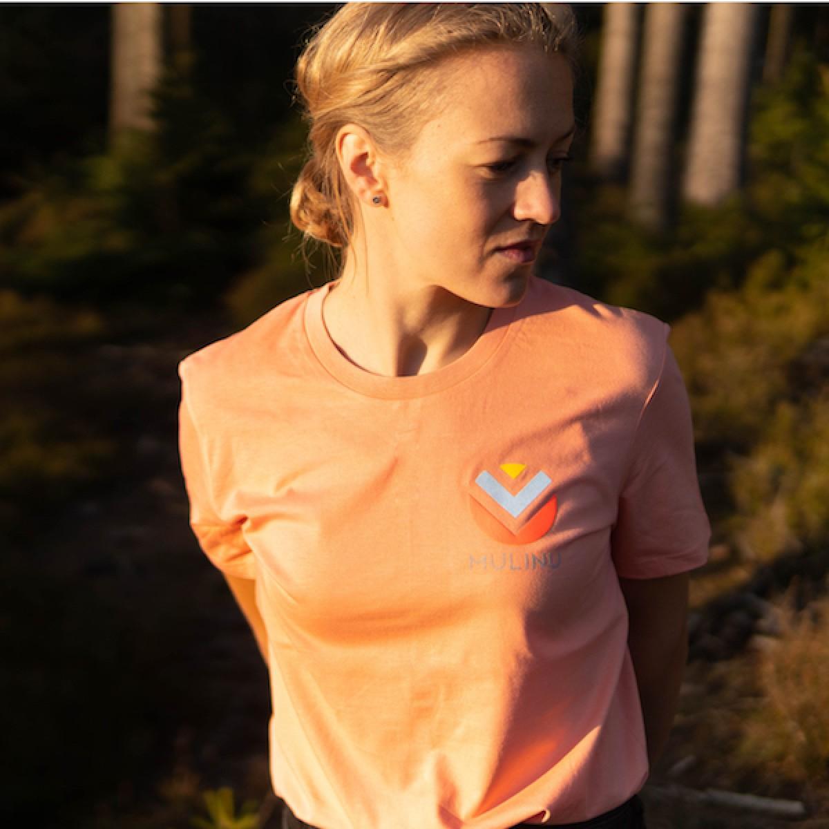 MULINU | UNISEX T-SHIRT Bio Baumwolle Sunset Orange