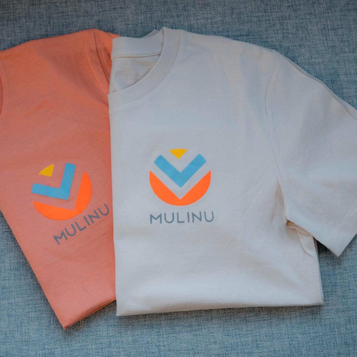MULINU   UNISEX T-SHIRT Bio Baumwolle Vintage Weiß