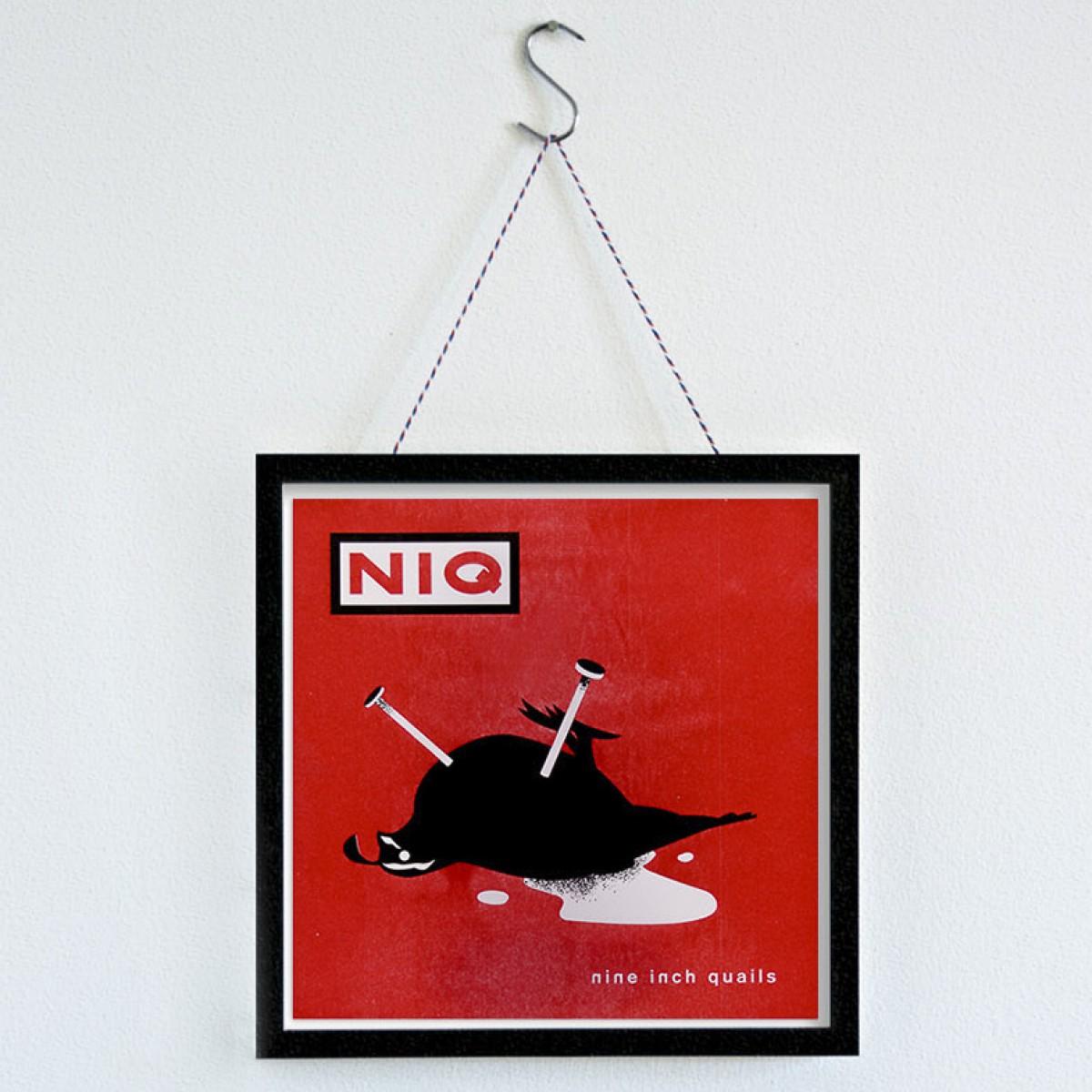 """MEAT LOVE """"Nine Inch Quails""""  Fleisch und Musik Riso Drucke von Black Matter"""