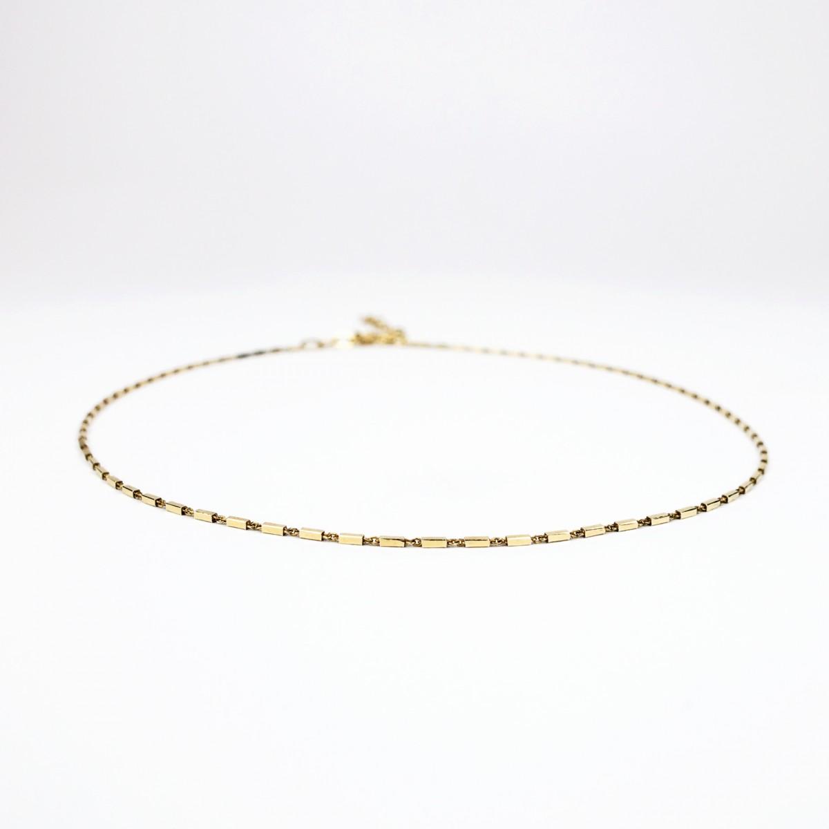 ST'ATOUR META – Kette mit Stäbchendetail in Gold, Silber oder Roségold
