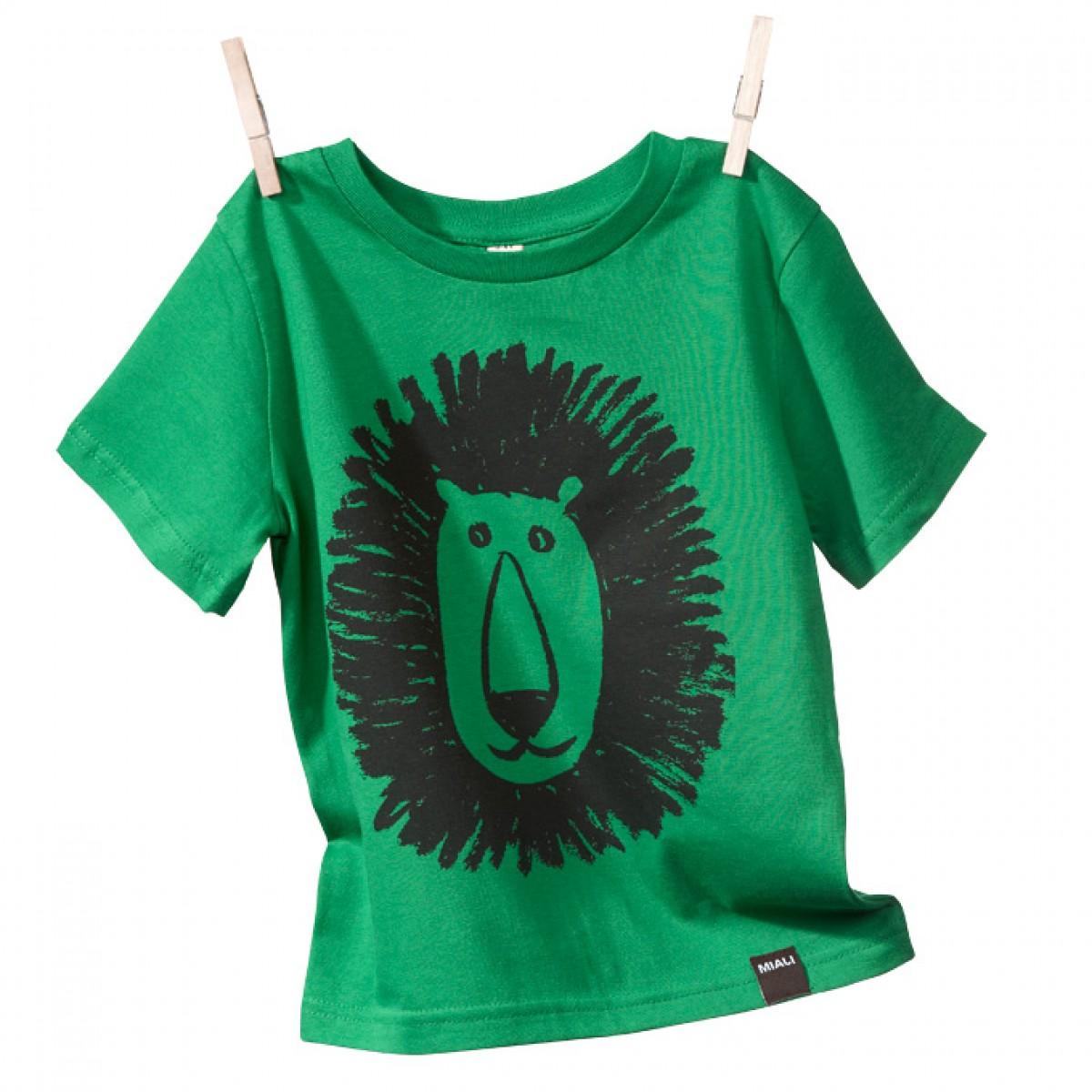 MIALI Bio-Baumwoll Shirt für Kleine / Löwe (grün)