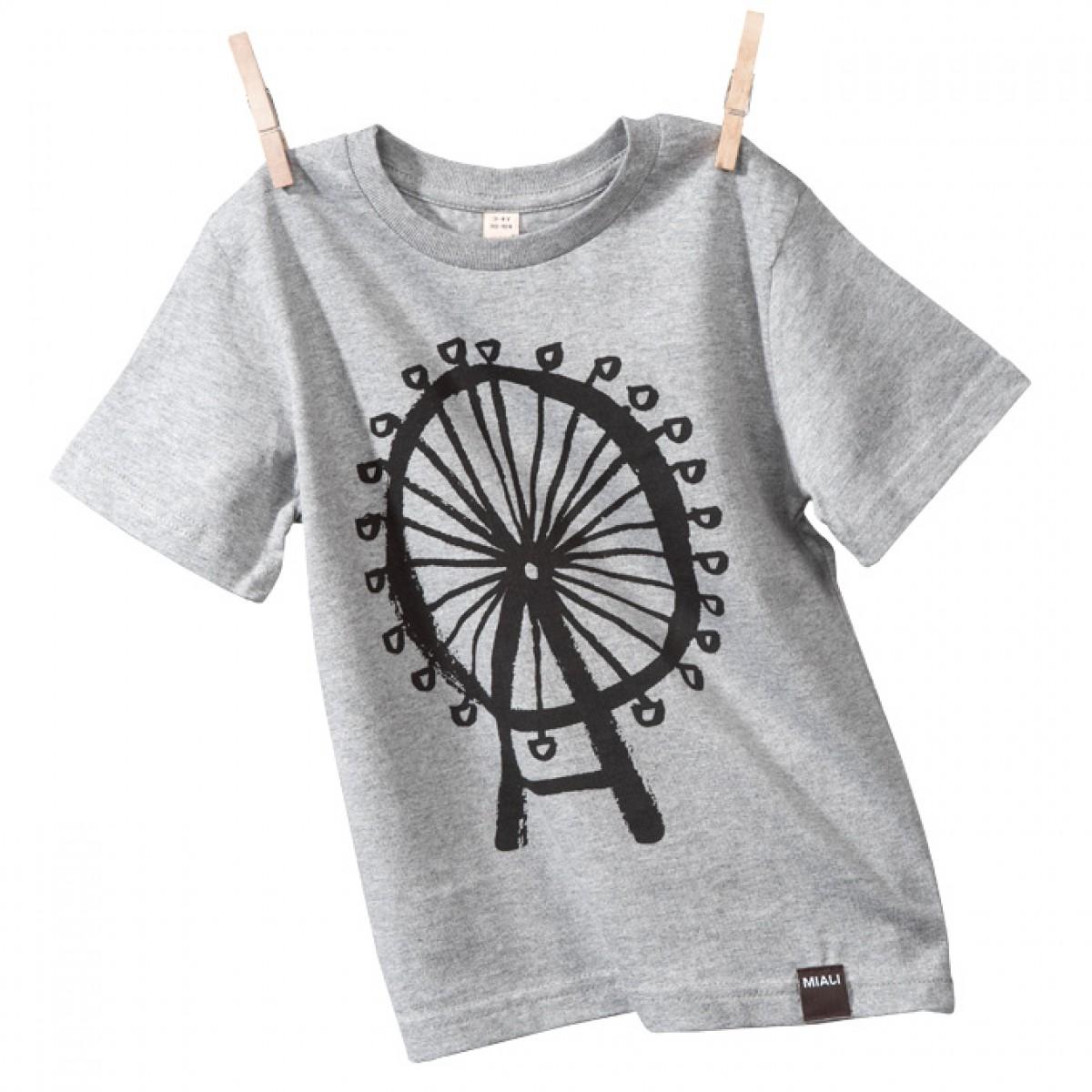 MIALI Bio-Baumwoll Shirt für Kleine / Riesenrad (grau)