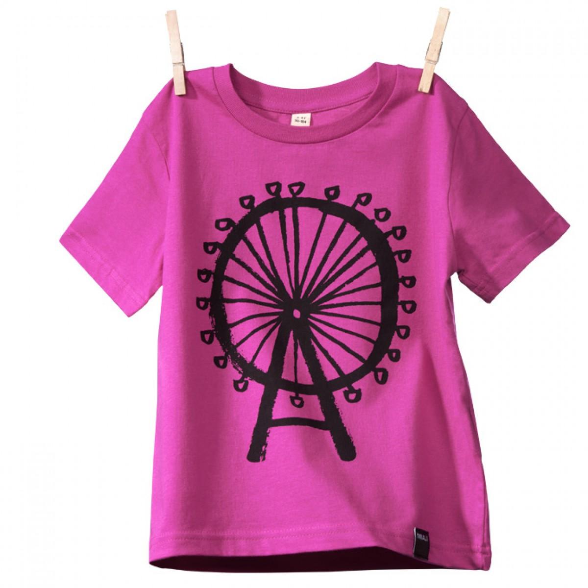 MIALI Bio-Baumwoll Shirt für Kleine / Riesenrad (pink)