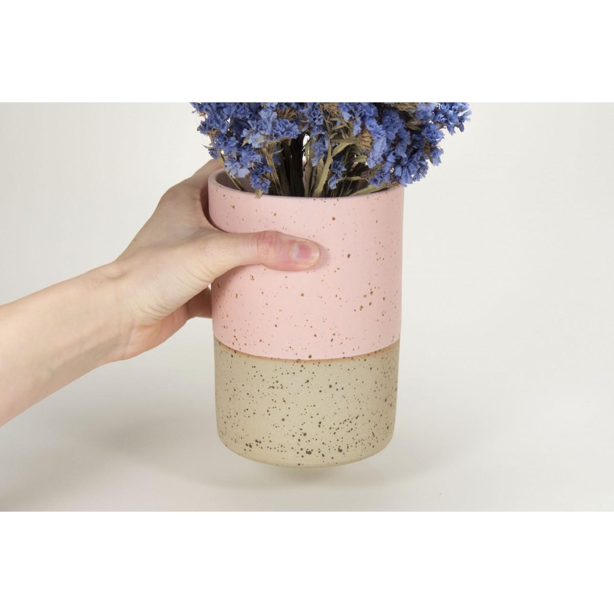 MIN - handgemachte Keramik Vase rosa - Anita Riesch