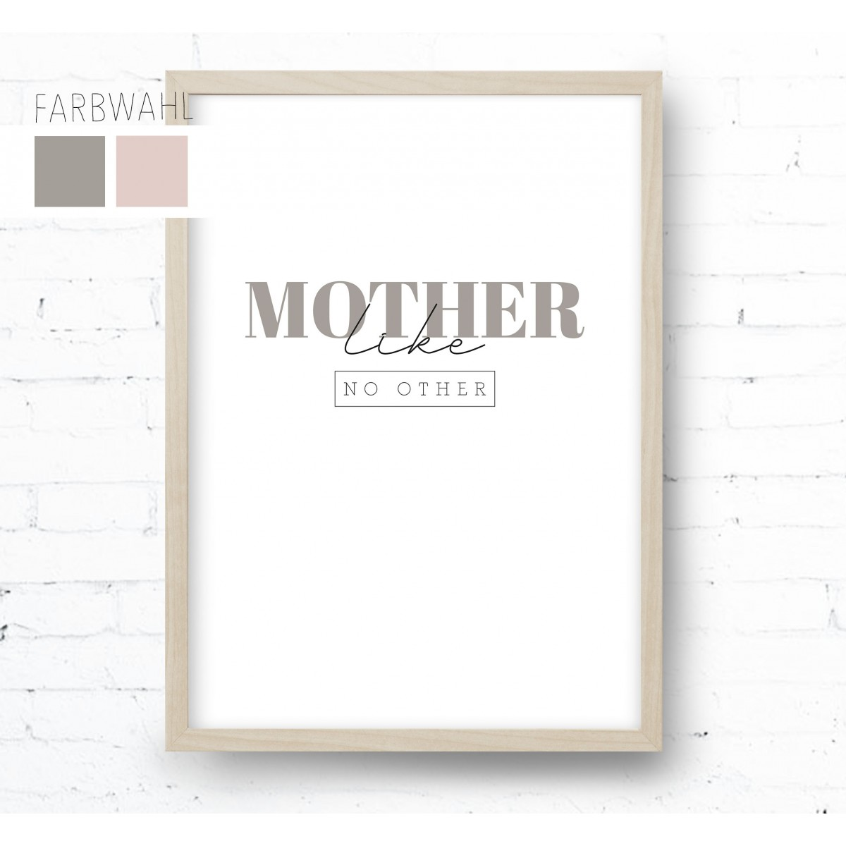 Kruth Design POSTER / MOTHER LIKE NO OTHER