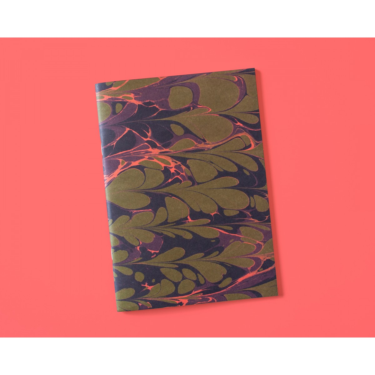 Notizheft A5 Marmor olive lilac // Papaya paper products