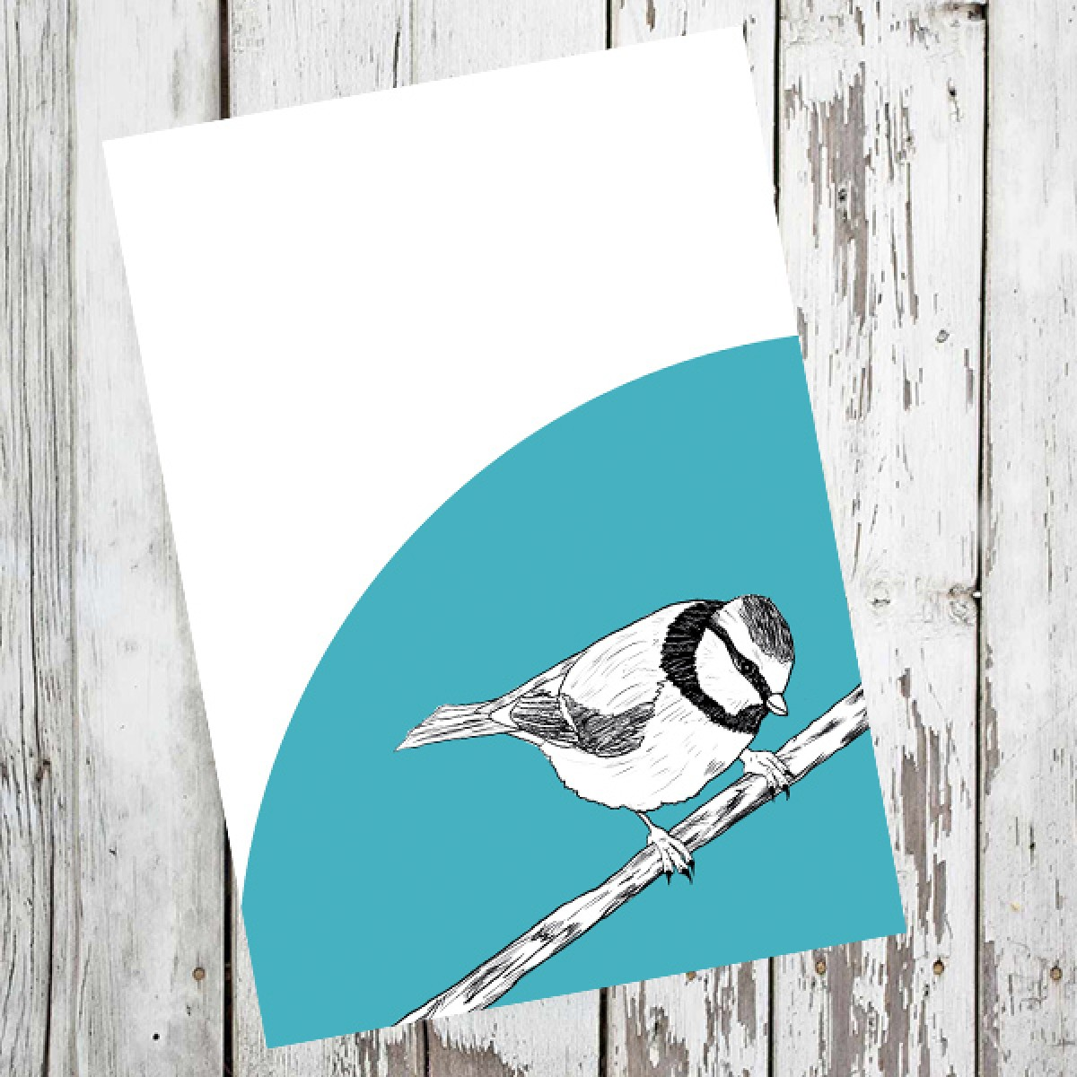 "playfulsolutions Notizheft mit Vogel Illustration ""Meise"""
