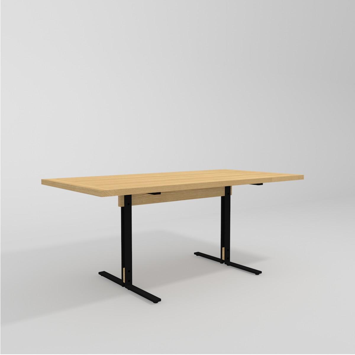 merlin tisch mit platte aus esche 90 x 180 cm. Black Bedroom Furniture Sets. Home Design Ideas