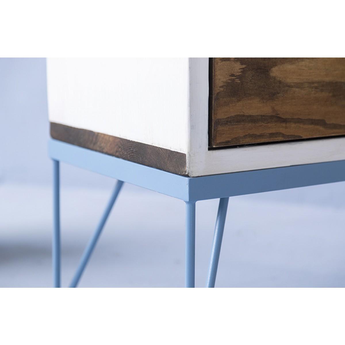 FraaiBerlin – Sideboard Mira aus Bauholz & Eisen
