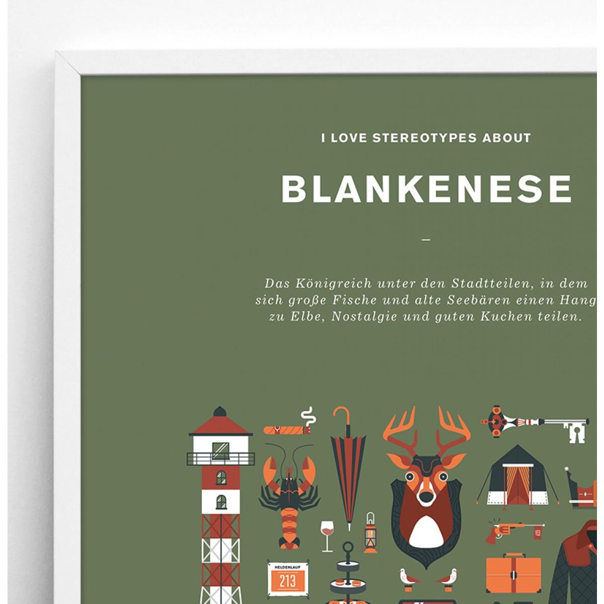 Stadtteil Plakat Blankenese