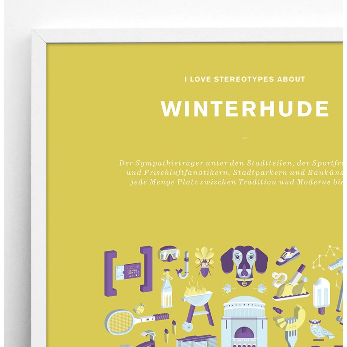 Bureau Bald Stadtteil Plakat Winterhude