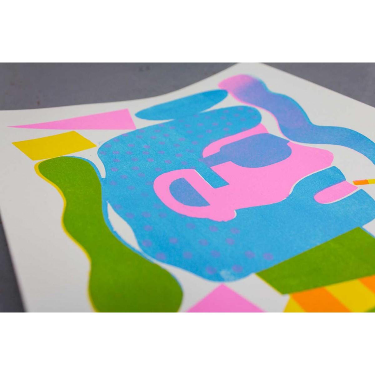 Martin Krusche - Stencilprint »Monsieur« DINA4