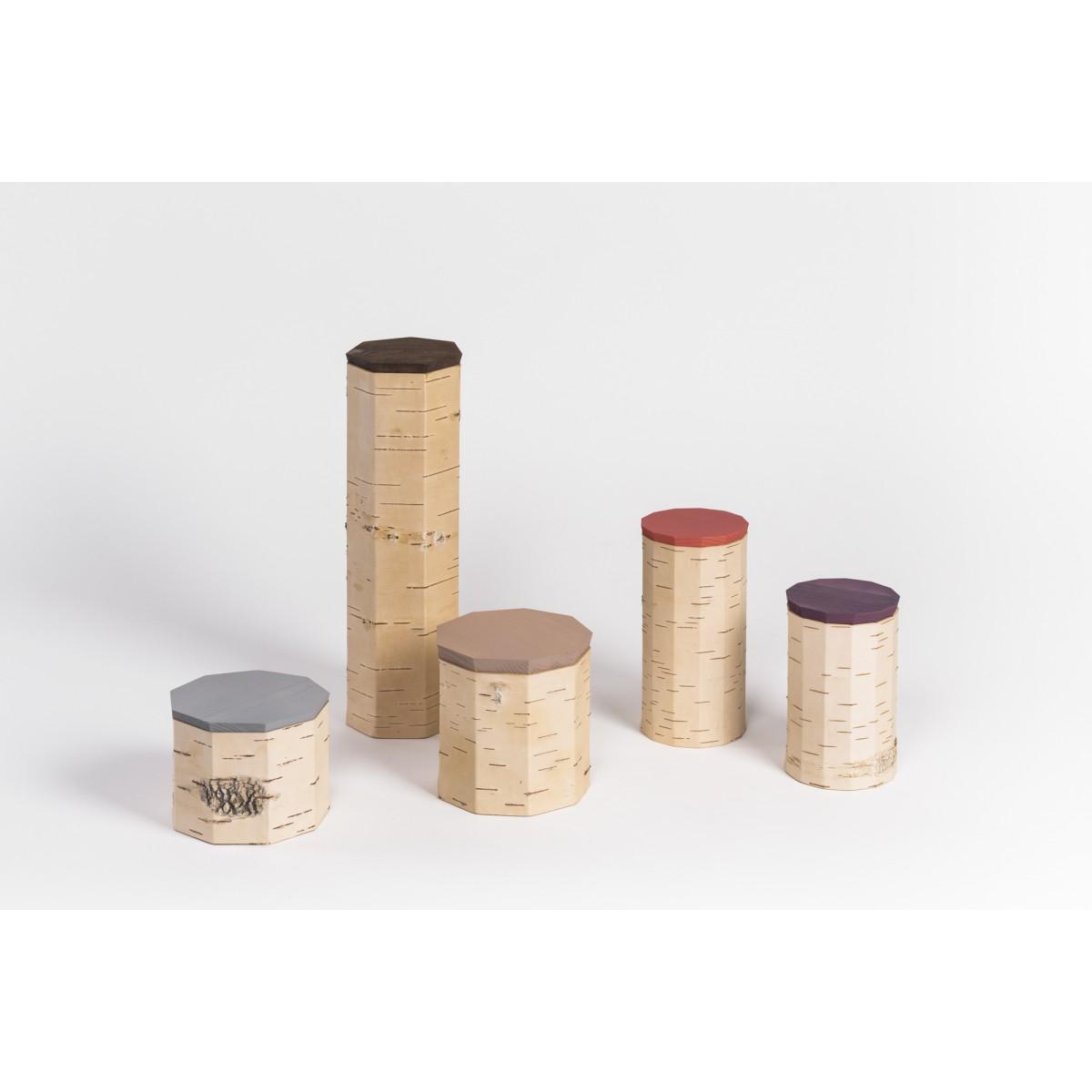 MOYANachhaltige Vorratsdosen aus BirkenrindeTUESA | 5er Set | plain edition