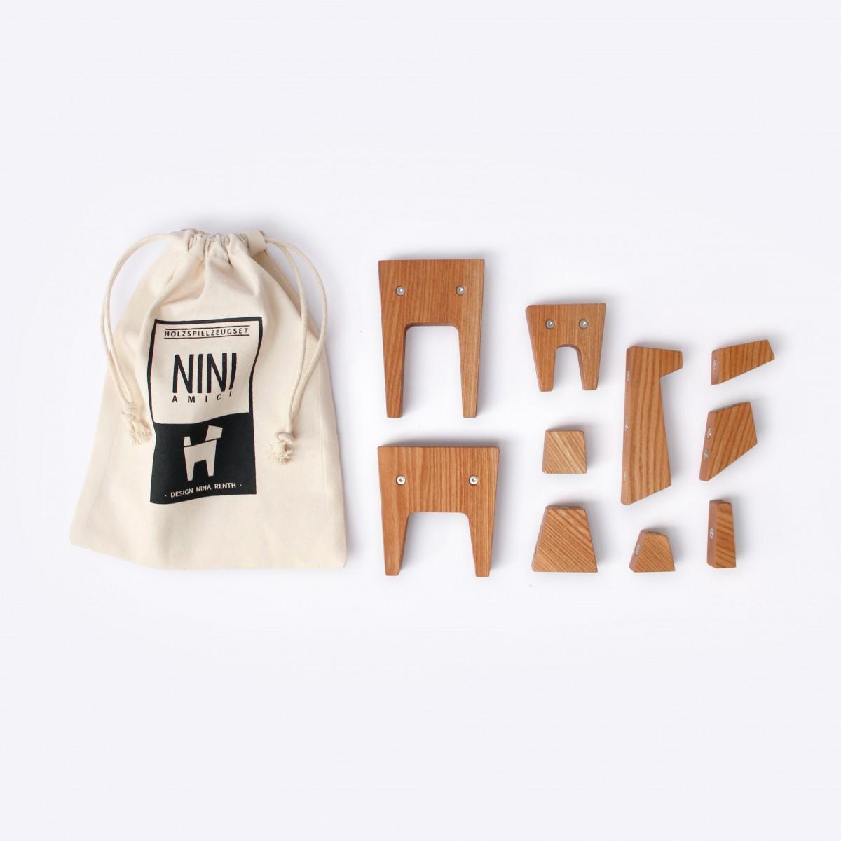 NINI AMICI - modulares Holzspielzeug Set