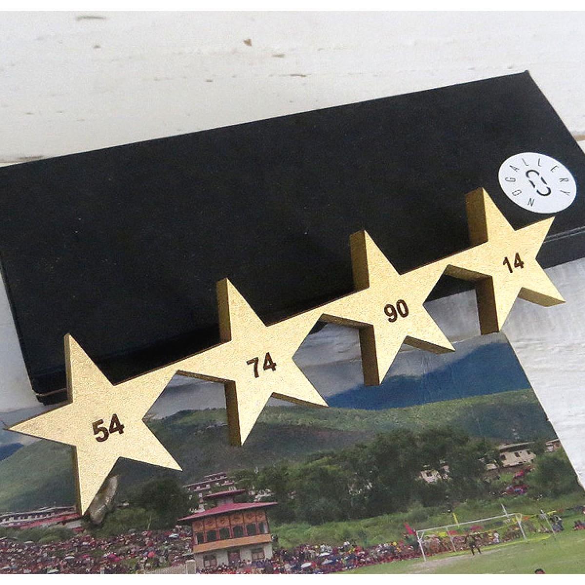 NOGALLERY 4 Sterne in 3D mit Gravur