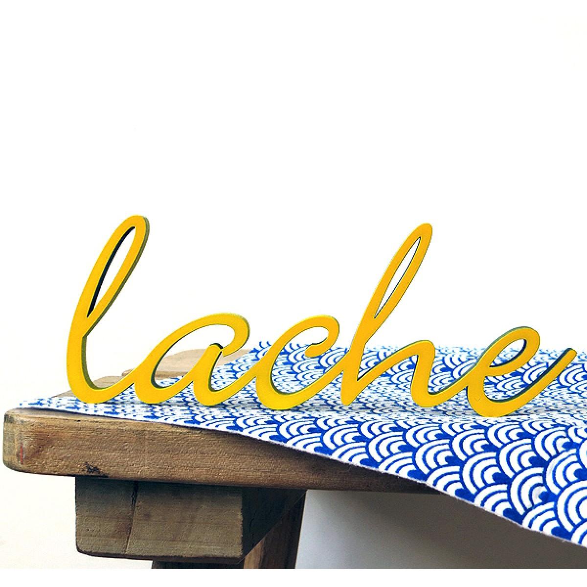 NOGALLERY Lache - Deko Schriftzug Holz