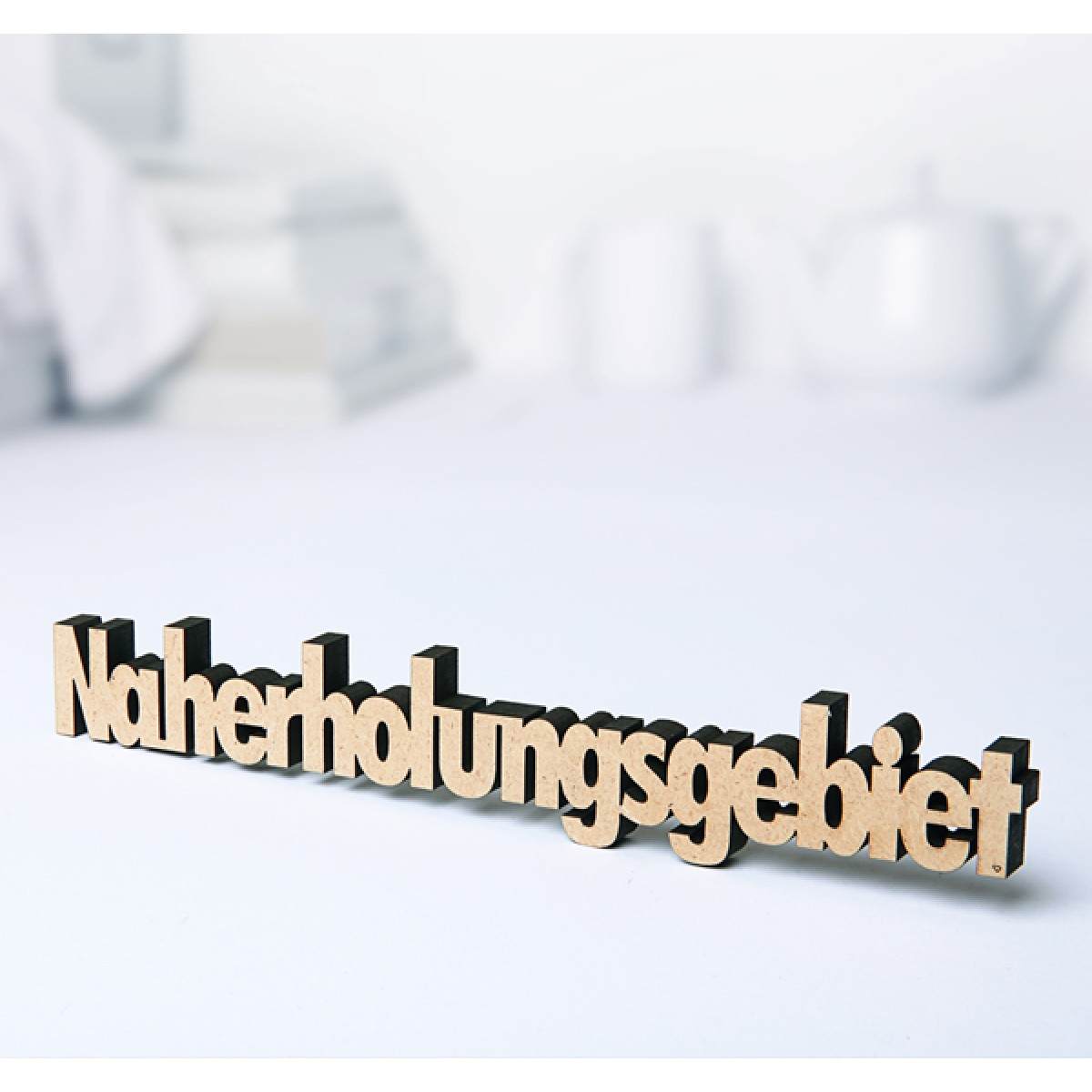 NOGALLERY Naherholungsgebiet - Deko Schriftzug Holz
